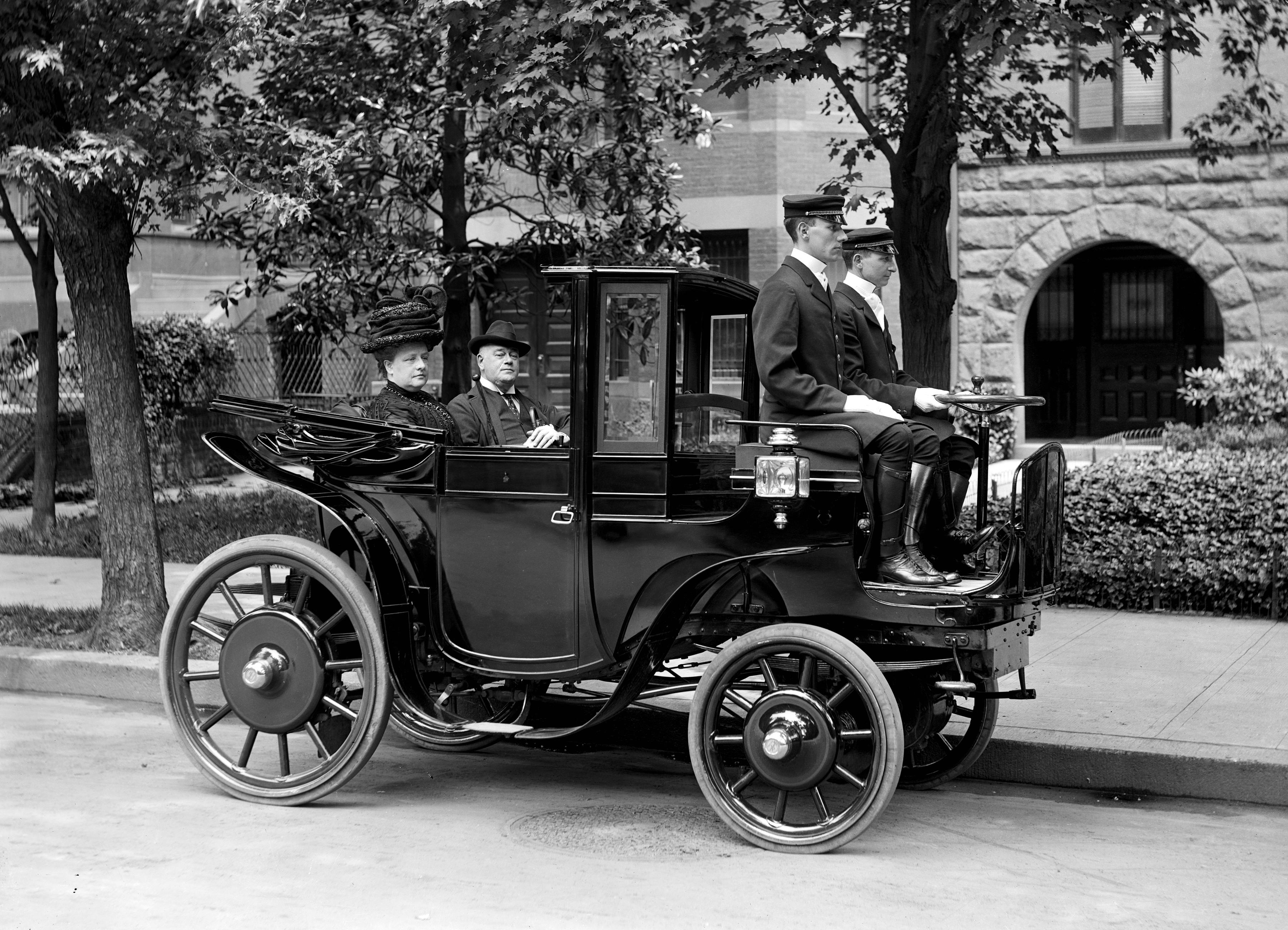 Senator Wetmore in his automobile